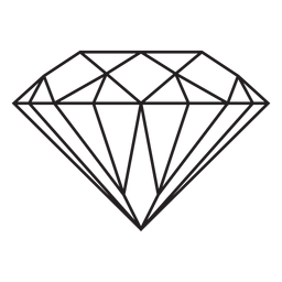 Icono de trazo de piedra preciosa de diamante