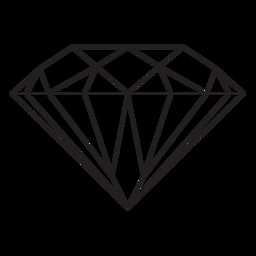 Diamant Edelstein Strich Symbol