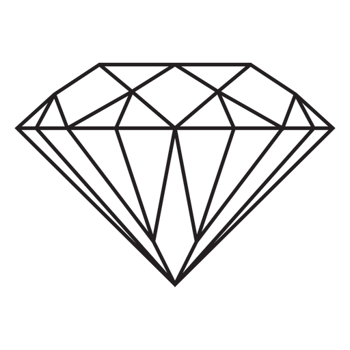 Diamond gemstone stroke icon Transparent PNG
