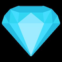 Diamante joya plana icono