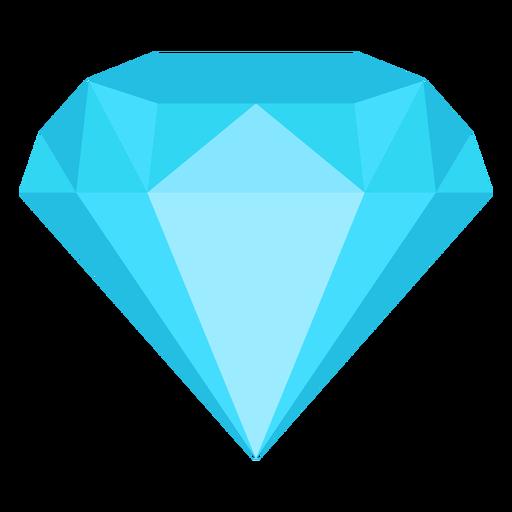 Icono plano de joya de diamante