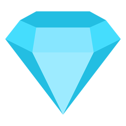 Diamond precious gemstone flat icon