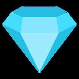 Ícone plana de gemstone precioso diamante