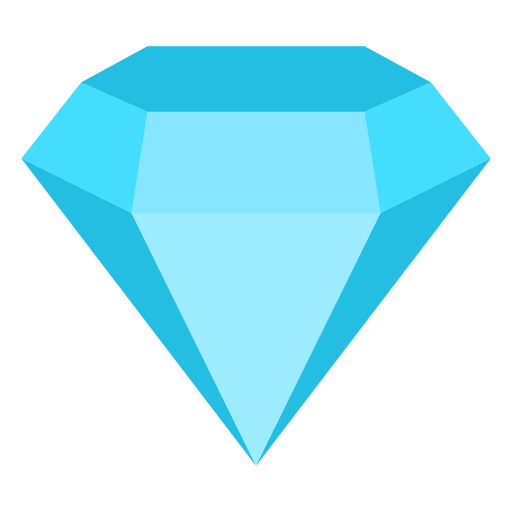 Diamond precious gemstone flat icon Transparent PNG