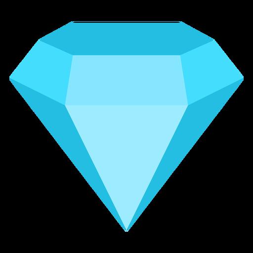 Diamond precious gemstone flat icon