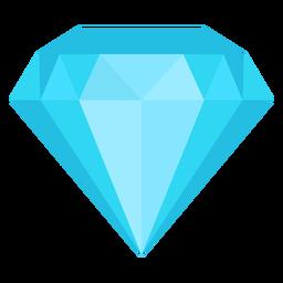 Diamante piedra plana icono