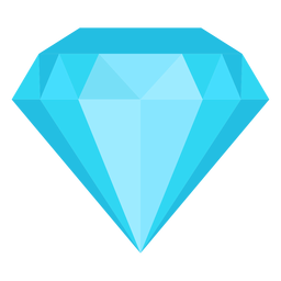 Diamond stone flat icon