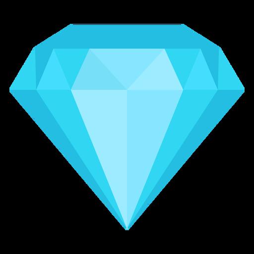 Diamante piedra plana icono Transparent PNG