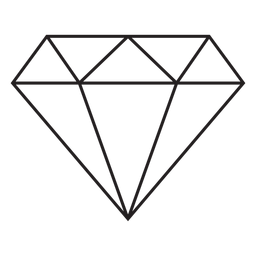 Diamond stroke icon