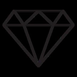 Ícone de traço de diamante
