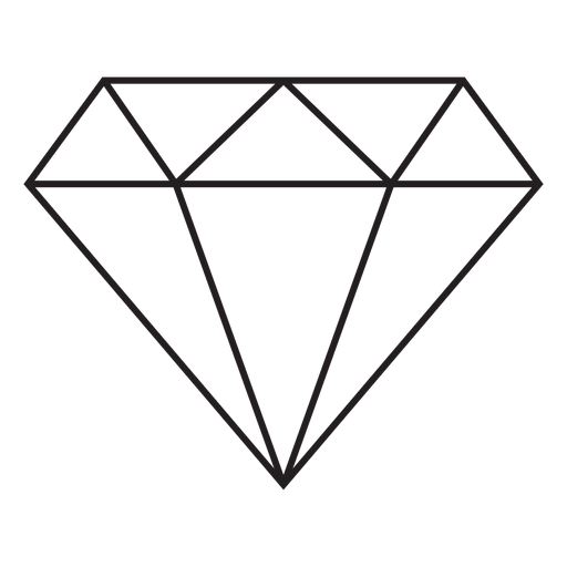 Diamond stroke icon Transparent PNG