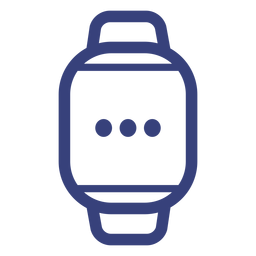 Digital watch stroke icon