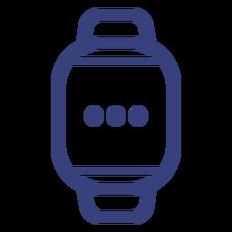 Icono de trazo de reloj digital