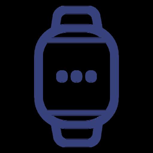 Ícone de traçado de relógio digital Transparent PNG