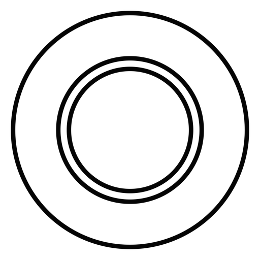 Dinner plate stroke icon Transparent PNG