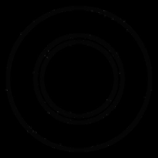 Icono de trazo de plato de cena