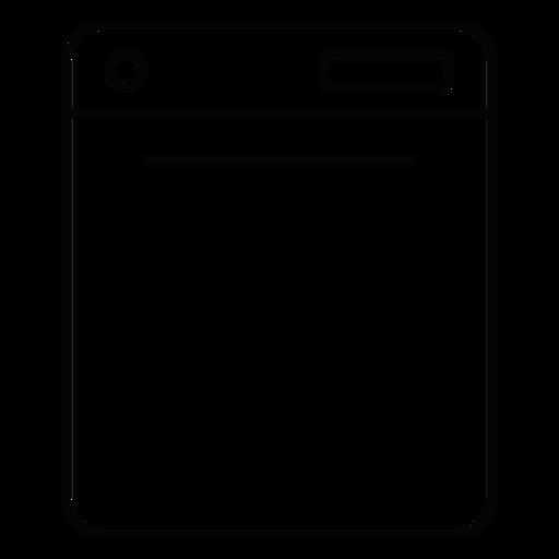 Dishwasher machine stroke icon Transparent PNG