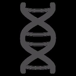 Icono de trazo de cadena de ADN