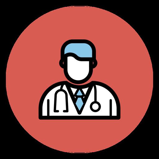 Icono de avatar de doctor