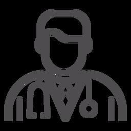 Doctor avatar icono de trazo