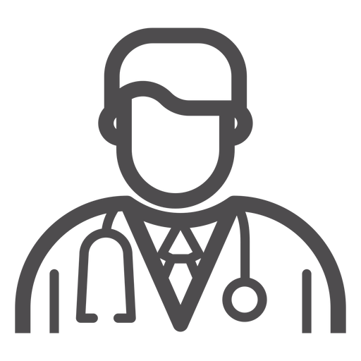 Doktor Avatar Schlaganfall-Symbol Transparent PNG