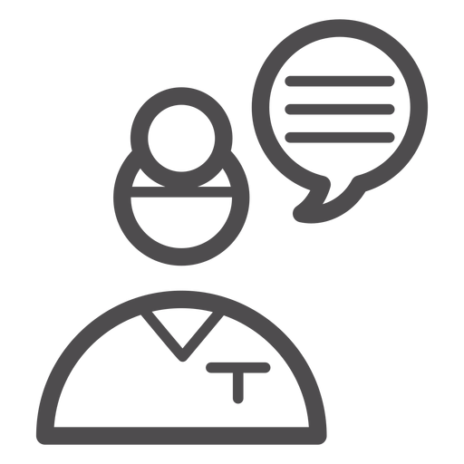 Doctor opinion stroke icon Transparent PNG