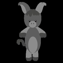 Ilustração de personagem de burro