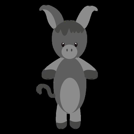 Ilustração de personagem de burro Transparent PNG