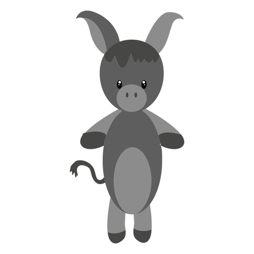 Ilustración de personaje de burro Transparent PNG