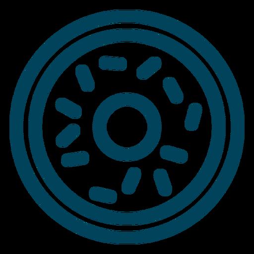 Ícone do curso de rosquinha Transparent PNG