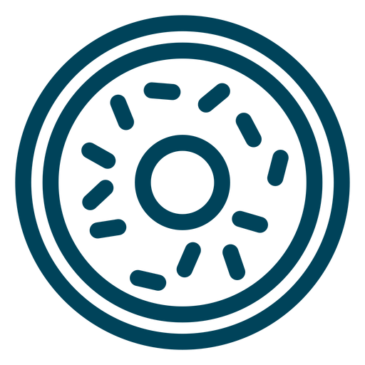 Donut stroke icon Transparent PNG