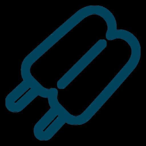 Doppel-Eis am Stiel-Symbol Transparent PNG