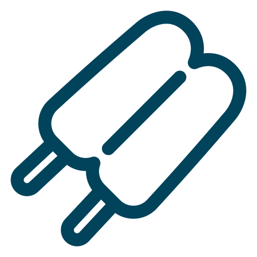 Double popsicle stroke icon Transparent PNG