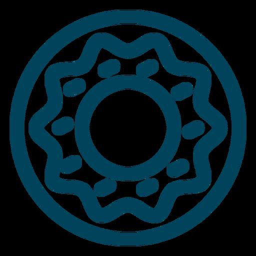 Doughnut stroke icon Transparent PNG