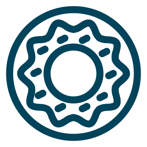 Doughnut stroke icon