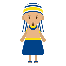 Ilustração de personagem egípcio