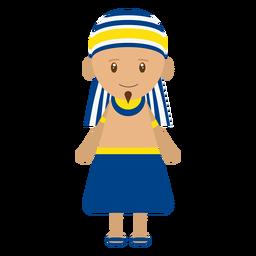 Ilustración del personaje egipcio