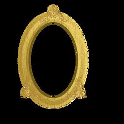 Elegante moldura dourada