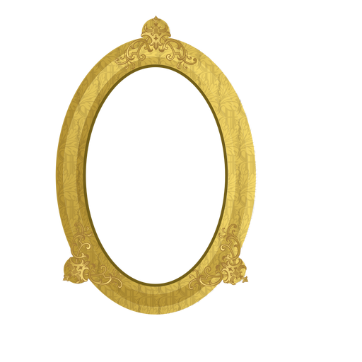 Elegant golden frame Transparent PNG