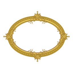 Marco dorado elíptico