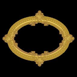 Moldura dourada elíptica