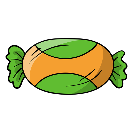 Foil wrapped candy cartoon Transparent PNG