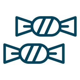 Foiled Bonbons Schlaganfall-Symbol