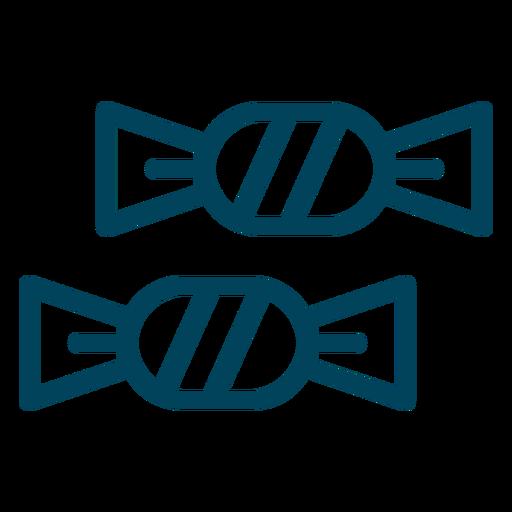 Foiled Bonbons Schlaganfall-Symbol Transparent PNG