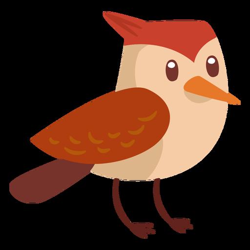 Desenho de pássaro da floresta