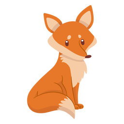 Diseño de dibujos animados lindo zorro