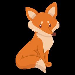 Fox bonito dos desenhos animados