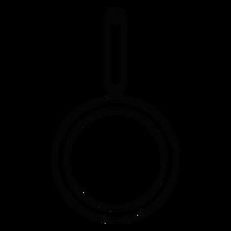 Icono de trazo de sartén