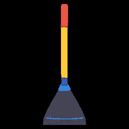 Icono de rastrillo de hoja de jardín