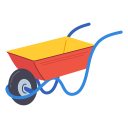 Garden wheelbarrow icon